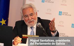 Miguel Santalices, presidente del Parlamento gallego