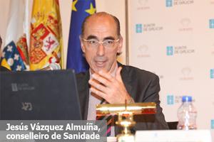 Jesús Vázquez Almuíña, conselleiro de Sanidade gallego