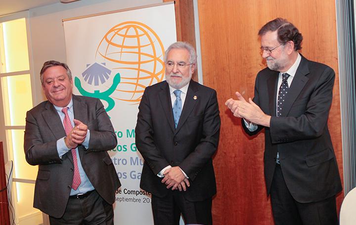 Julio Ancochea, Miguel Ángel Santalices y Mariano Rajoy