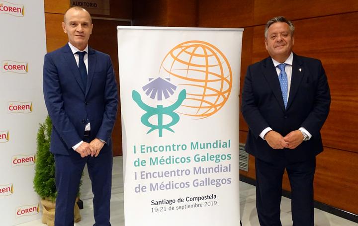 González Juanatey con Julio Ancochea, presidente de Asomega