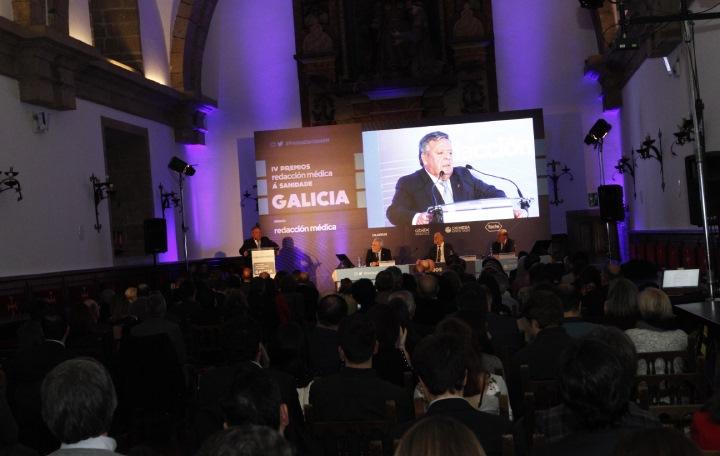 Momento de la intervención de Julio Ancocchea
