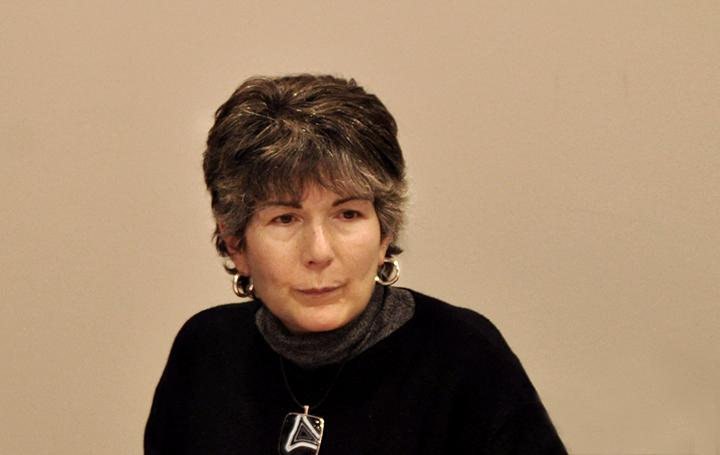 Esther Barreiro en una Junta Directiva de Asomega