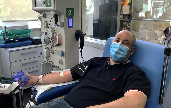 Pasar el coronavirus ha permitido a Diego Aníbal Rodríguez ser donante de plasma con anticuerpos
