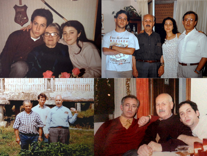 Montaje de fotos familiares de Diego Aníbal Rodríguez