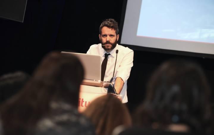 Juan Castro en la presentación del Centro de Protonterapia de QuirónSalud en enero de 2020.