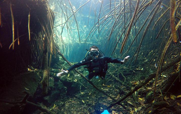 Una de las pasiones de Juan Castro: el buceo.