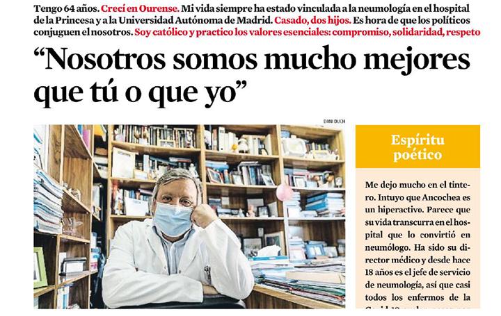 Julio Ancochea, entrevistado en 'La Vanguardia'