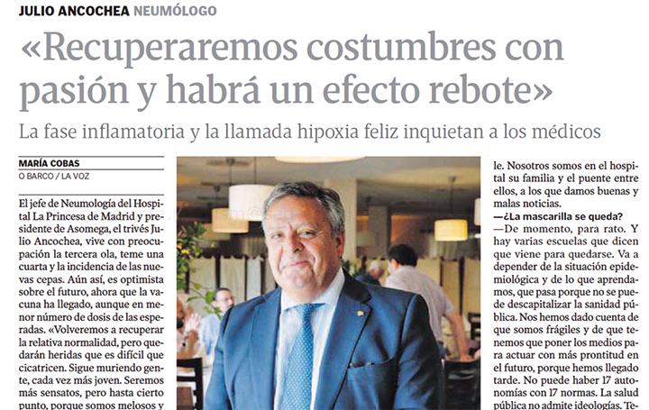 Entrevista a Julio Ancochea en 'La Voz de Galicia'