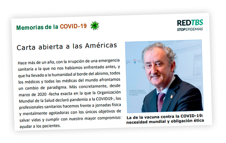 """Imagen de la última entrega de """"Memorias de la Covid-19. La pandemia en las Américas"""""""