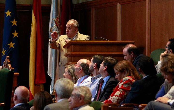 José Carro en la inauguración del I Encontro Mundial de Médicos Galegos
