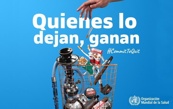 Cartel de la OMS para el Día Mundial sin Tabaco