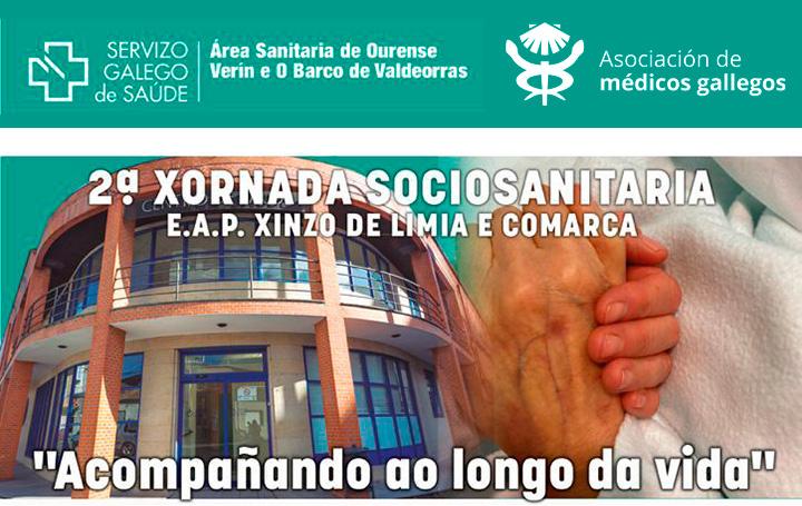 Cartel anunciador de la 2ª Xornada Sociosanitaria.