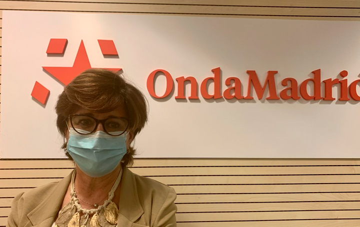 Ana Fernández-Teijeiro en la sede de Onda Madrid