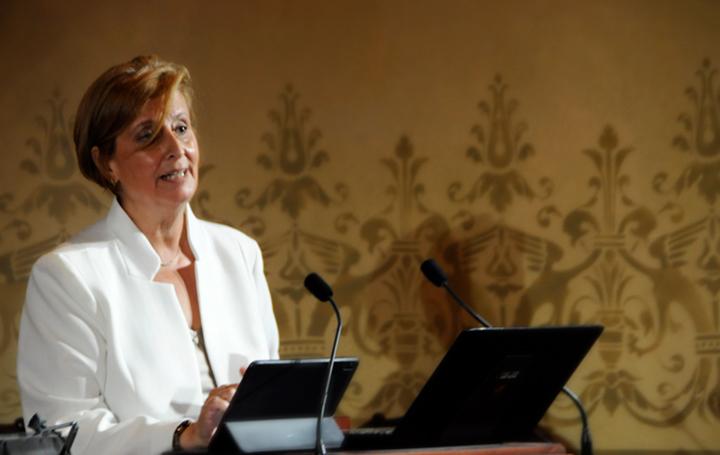 Pilar Rodríguez Ledo durante su intervención.