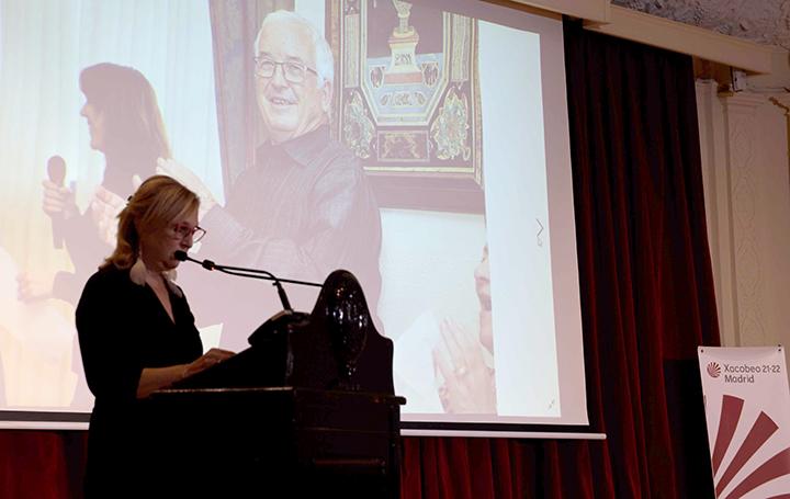 Pilar Falcón, presidenta del Club de Periodistas Gallegos en Madrid